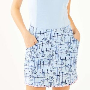 Fairway golf skort crew blue talk birdie to me